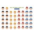 Cartoon People Emotions vector image
