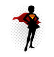 super mom cartoon vector image