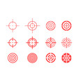 collection of target icons on white background vector image