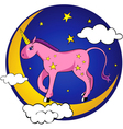 little unicorn vector image