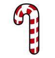 isolated christmas cane vector image