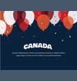 1 july happy canada day greeting card vector image vector image