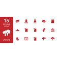 15 upload icons vector image vector image