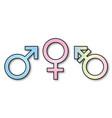 3 gender signs vector image vector image