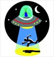 abducted by alien vector image vector image