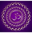abstract purple background with om mantra vector image vector image