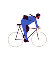 active bearded businessman riding on bike isolated vector image vector image