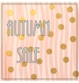 Autumn Sale Lettering vector image