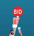 bid auction vector image