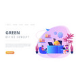 biophilic design in workspace concept landing page vector image vector image