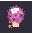 bouquet of flowers greeting vector image