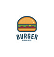 burger abstract outline logo template vector image