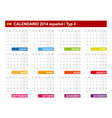 Calendar 2014 spain type 4 vector | Price: 1 Credit (USD $1)