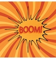 cartoon boom-3 vector image vector image