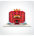 casino building isolated vector image