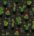 christmas cacti new year seamless pattern eps 10