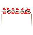 christmas kids banner vector image vector image