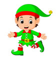 cute elf cartoon vector image vector image
