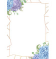 decorative golden rectangular frame withleaves vector image