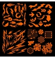 Design elements on black background - big vector image vector image