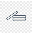 dishes concept linear icon isolated on vector image vector image
