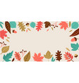 fall autumn season background vector image vector image