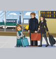 family going to vacation vector image vector image