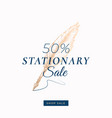fifty percent stationary autumn sale abstract vector image