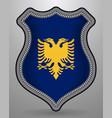 flag of albania badge and icon vector image