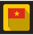 Flag of Vietnam icon flat style vector image vector image