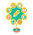 flat concept education and infobusiness vector image