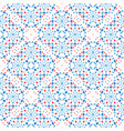 floral dot pattern blue red boho vector image vector image