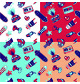funky seamless pattern with teenagers culture vector image
