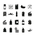 garbage icon set simple style vector image