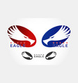 graceful eagle silhouette logo vector image