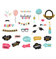 graduation photo booth elemnts and party props vector image vector image
