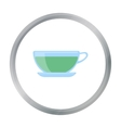 Green tea icon of for web and vector image vector image