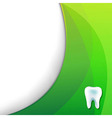 Green Wallpaper With Tooth vector image vector image