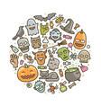 halloween icons holiday symbol cartoon vector image vector image
