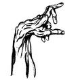 Hand drwan hand vector image vector image