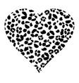 heart leopard pattern vector image