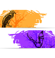 Horizontal banners for Halloween vector image vector image