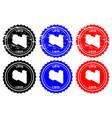 libya rubber stamp vector image vector image