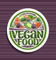 logo for vegan food vector image