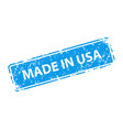 made in usa stamp texture rubber cliche imprint vector image vector image
