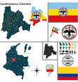 Map of Cundinamarca vector image vector image