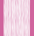 marine pink stripe seamless pattern with hand vector image