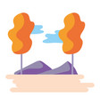 nature park cartoon vector image