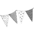 party flags isolated on white background