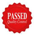 passed quality control vector image